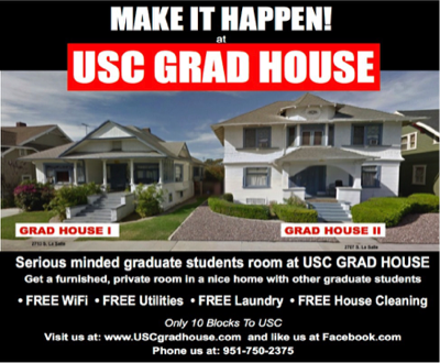 Graduate Student Housing At Usc Rooms